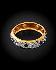 Yellow Gold Sapphire and Diamond Ring