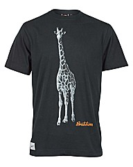 Mens Black Giraffe Tee