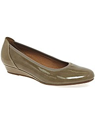 Gabor Chester Ladies Wide Fit Low Wedge