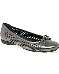 Gabor Bota Ladies Bow Trim Perforated Le