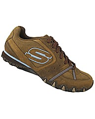 Skechers Ladies Bikers Spring Warp Shoe