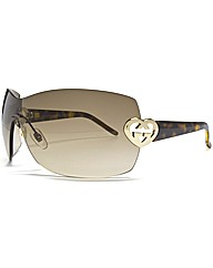 Gucci Rimless Visor Sunglasses
