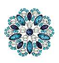 Mood Multi Blue Cool Facet Stone Brooch