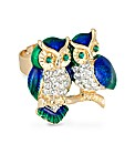 Jon Richard Owl Enamel Adjustable Ring