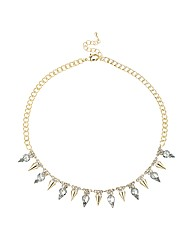 Mood Gold Spike Collar Necklace