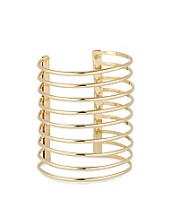 Mood Polished Gold Multi Row Arm Cuff