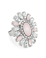 Mood Pink Oval Stone Adjustable Ring