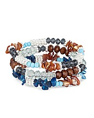 Mood Brown Chipped Stretch Bracelet
