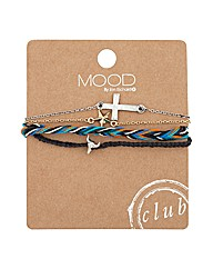 Mood Corded Multi Charm Bracelet Set