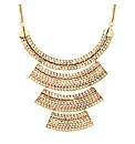 Mood Four Tier Gold Plate Necklace