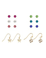 Mood Stud And Drop Earring Eight Pack
