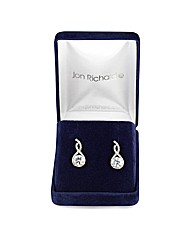 Jon Richard Cubic Zirconia Twist Earring