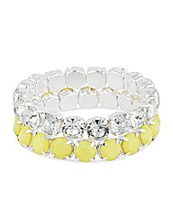 Mood Diamante And Yellow Stone Bracelet