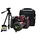 Nikon Coolpix P520 3D Red Camera Kit