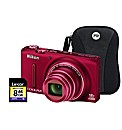 Nikon Coolpix S9400 3D Red Camera Kit