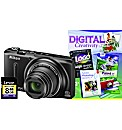 Nikon Coolpix S9500 3D Black Camera Kit