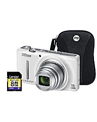 Nikon Coolpix S9400 3D White Camera Kit