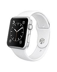 Apple Sport 42mm Silver Aluminum  White