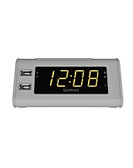 Goodmans GCRUSB03 Clock Radio with USB