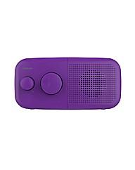 Goodmans Pebble DAB Radio - Purple