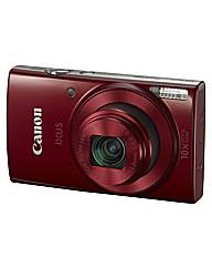 Canon IXUS 180 Camera Red 20MP 10x WiFi