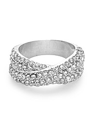 Jon Richard Crystal Crossover Ring