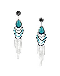 Mood Blue Chandelier Tassel Earring