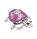 Jon Richard Pink Turtle Adjustable Ring