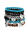 Mood Blue And Silver Charm Bangle Pack