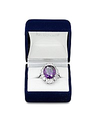 Jon Richard Purple Cubic Zirconia Ring