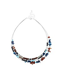 Mood Triple Row Beaded Illusion Necklace