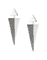 Mood Ball Encased Triangle Drop Earring