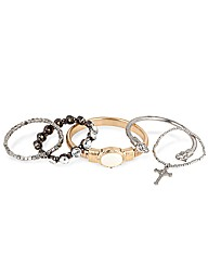 Mood Mixed Metal Stretch Bangle Pack