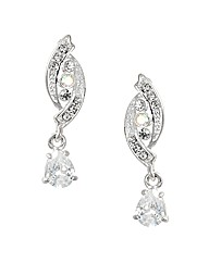 Jon Richard Crystal Peardrop Earring