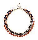 Mood Blue And Orange Collar Necklace