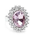 Jon Richard Pink Crystal Adjustable Ring