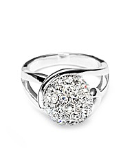 Jon Richard Pave Crystal Ball Ring