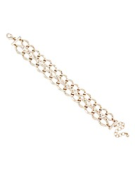 Mood Double Row Gold Link Chain Bracelet