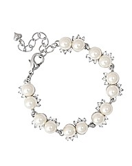 Jon Richard Pearl Crystal Twist Bracelet