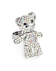 Jon Richard Crystal Bear Adjustable Ring