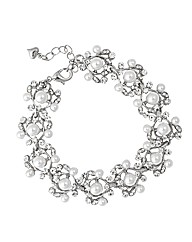 Jon Richard Crystal Pearl Drop Bracelet