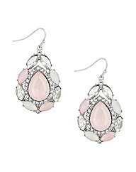 Mood Pink Stone Teardrop Earring