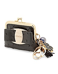 Mood Black Purse Keyring With Charms