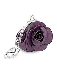 Mood Purple Floral Rose Purse Keyring
