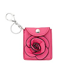 Mood Pink Floral Mirror Purse Keyring