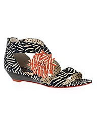 Ruby Shoo Faye Low Wedge Sandal