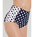 Lucy Heart High Waisted Brief
