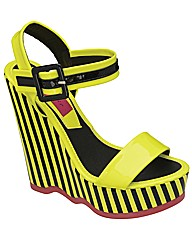 Dolcis Stripey Wedge Sandal