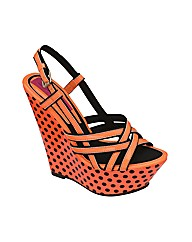 Dolcis Polka Dot Wedge Sandal