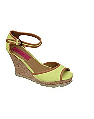 Dolcis Peep-Toe Cork Wedge